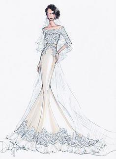 wedding gown sketch
