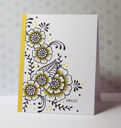Amusing Michelle: Search results for hennah Creative Birthday Cards, Creative Cards, Pencil Drawings Of Flowers, Altenew Cards, Paper Quilling Designs, Zentangle Patterns, Watercolor Cards, Cool Cards, Flower Cards