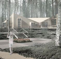Children's camp by A-Z architects #azarchitects #architects #Children's camp #architecture #desigin #modern #forest #piayzone