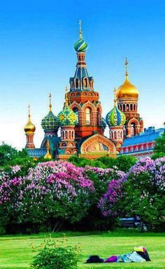 In colorful St. Petersberg, Russia.