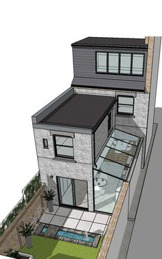 Best Picture For Architecture background bla. Best Picture For Architecture background black and white For Yo - House Extension Design, Glass Roof Extension, Extension Ideas, Casas The Sims 4, Narrow House, Outdoor Kitchen Design, House Extensions, Chrome Extensions, Modern House Design