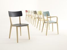 LACQUERED LAMINATED WOOD CHAIR DUE | WOODEN CHAIR | BRUNNER