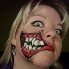 Halloween Makeup Ideas – Halloween Ideas – Grandcrafter – DIY Christmas Ideas ♥ Homes Decoration Ideas Horror Makeup, Scary Makeup, Makeup Art, Makeup Ideas, Sfx Makeup, Theme Halloween, Halloween Makeup Looks, Halloween Make Up, Cosplay Makeup