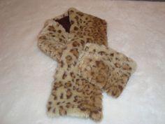 Nice Soft Faux Fur Leopard Print Neck Scarf #Unbranded #SelfTieNeck