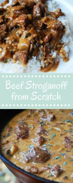 Make Beef Stroganoff from Scratch, it's so easy and so delicious. It'll be the best homemade beef stroganoff recipe you ever make! So flavorful, so simple.