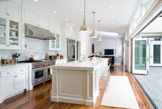kitchen open to outdoors | Summer Must: 35 Adorable Kitchens Open To Outdoors - DigsDigs