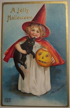 Vintage Halloween Postcard     Ellen H. Clapsaddle by riptheskull, via Flickr
