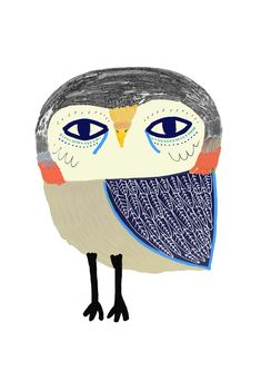 ickle owl by Ashley Percival. illustration - art - illustrator - design - kids decor - nursery - owl