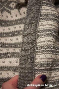Strikkepiken – Perfekte knapphull til doble stolper Knitting Stitches, Hand Knitting, Knitting Patterns, Chenille Blanket, Knit Crochet, Crochet Stitch, Yarn Bombing, Fair Isle Knitting, Shibori