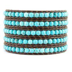 Chan Luu - Turquoise Wrap Bracelet on Brown Leather, $190.00 (http://www.chanluu.com/wrap-bracelets/turquoise-wrap-bracelet-on-brown-leather/)