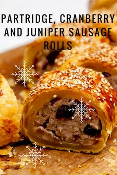 James Mackenzie packs his sausage rolls with cranberry, partridge and juniper for a particularly Christmassy combination Christmas Nibbles, Christmas Canapes, Cranberry Relish, Great British Chefs, Sausage Rolls, Best Dinner Recipes, Recipe Inspiration, Hot Dog, The Dish
