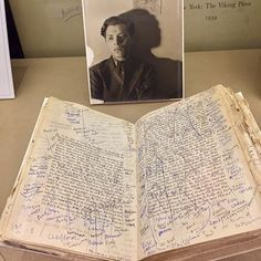 Delmore Schwartz's heavily annotated copy of Finnegans Wake, 1943–1964, on view now in + The Art of Collaboration at the Beinecke Library. Poet #DelmoreSchwartz was a celebrated member of the generation of American writers who followed the high modernists. He wrote frequently in #poems and #stories of his painful childhood as the son of unhappily married Jewish immigrants who divorced when he was a boy. In spite of his intellectual and creative gifts, #Schwartz was a deeply troubled man…