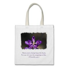 Proverbs 4:23 tote bag by Scripture Classics #gift #zazzle #photogift #bible #Christian