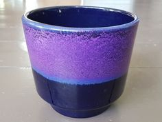 Passionately purple Marei Keramik planter, made in Seventies West Germany! Glowing colours and excellent condition, vintage German ceramics by LovelyOldandUseful on Etsy