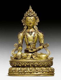 AKSHOBYA. Tibet, 17./18. Jh. H 21 cm. Buddha, Tibet Art, Art Asiatique, Divine Mother, Religious Icons, Buddhist Art, Himalayan, Asian Art, Sculptures