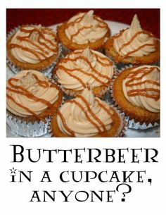 Butterbeer Cupcakes:  Harry Potter Recipes