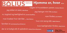 """Bolius' FB vener fortæller, hvad """"hjemme"""" betyder for dem. Det bliver til nyt indhold, som igen deles med brugerne...."""