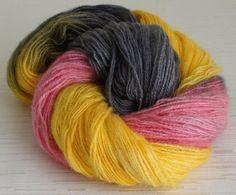 Hand Painted Yarn, Hand Dyed Angora Yarn 523 yards, Fingering Weight  $17.99