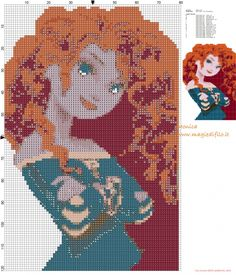 Merida (Brave) cross stitch pattern  (click to view)