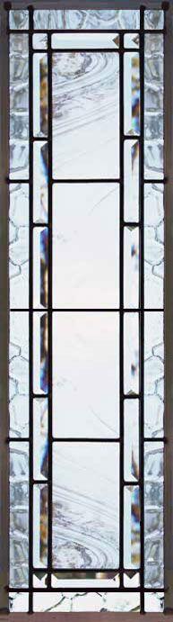 ZOOM to custom leaded glass vertical bevel sidelight window ...