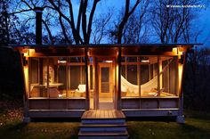 1. Screened pavilion. Even better than a screened-in porch, a screened pavilion is like having a summer house in your backyard. String up a hammock and put a game table inside, and relax all evening, immersed in the ambience of the summer night … without bug bites.
