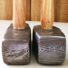 Damascus steel hammers