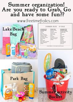 Free Time Frolics: Summer Grab & Go Bags! Are you ready?