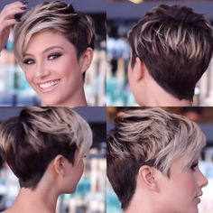 Today we have the most stylish 86 Cute Short Pixie Haircuts. We claim that you have never seen such elegant and eye-catching short hairstyles before. Pixie haircut, of course, offers a lot of options for the hair of the ladies'… Continue Reading → Funky Short Hair, Short Hair Cuts For Women, Short Hair Styles, Short Pixie Haircuts, Short Bob Hairstyles, Short Pixie Cuts, Short Asymmetrical Hairstyles, Pixie Haircut For Round Faces, Messy Pixie