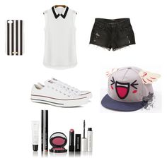 """BTS series: Jimin"" by norajox-kim ❤ liked on Polyvore featuring J Brand, Converse, Henri Bendel and Bobbi Brown Cosmetics"