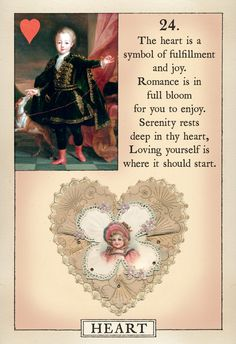 The Heart card from the Blue Bird Lenormand