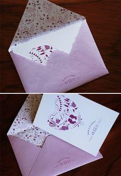 Bianca & Rikus' festive invitation - Blog - Seven Swans Wedding Stationery