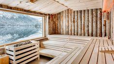 Sauna am Eibsee mit Kelo-Wänden Sauna House, Sauna Room, Tiny House Cabin, Lap Pools, Indoor Pools, Backyard Pools, Pool Decks, Pool Landscaping, Sauna Design