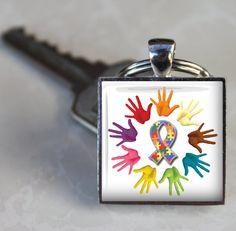 Autism Keychain Autism Awareness Key Chain por AGiftToLove