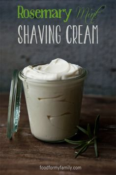 Rosemary mint shaving cream. And a bunch of other things you can make for a man.