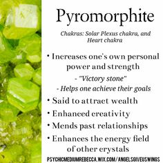 Pyromorphite crystal meaning