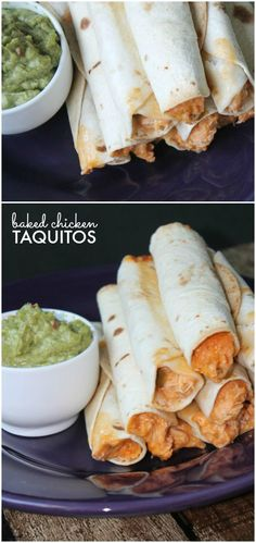 Baked Chicken Taquitos Easy Recipe for Dinner and Kid Friendly!