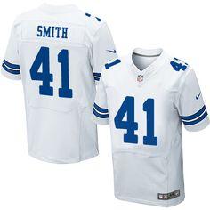 Men's Nike Dallas Cowboys #41 Keith Smith Elite White NFL Jersey