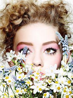 """ Ondria Hardin by Richard Burbridge for Vogue Japan March 2015. Makeup by Peter Philips. """