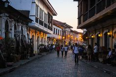 The old city centre of Vigan, Philippines