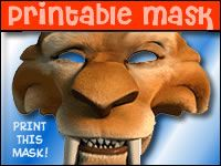 Ice Age 3 Free Printable Mask