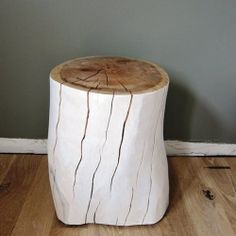 Partially painted stump