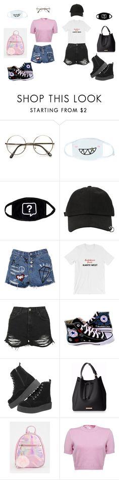 """opp"" by bangmomo on Polyvore featuring moda, cutekawaii, StyleNanda, Topshop, Converse y T.U.K."