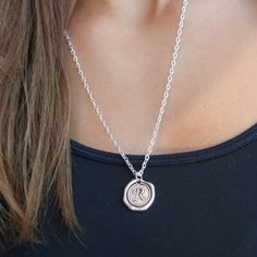 Our Favorite Wax Seal Initial Necklace