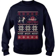 Awesome Tee Beagle Christmas Woof T shirts