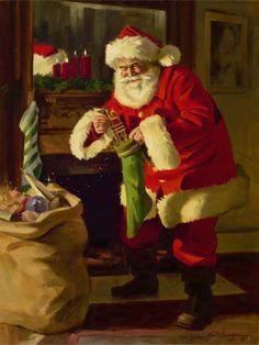 Tenho certeza que irão adorar essas ilustrações! Primeiro, Papai Noel à trabalho! Depois, Papai Noel de férias! Adorei essa!...