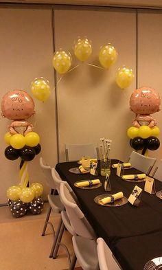 rosielloons Baby Balloon, Love Balloon, Balloon Ideas, Baby Shower Balloons, Balloon Decorations, Baby Shower Parties, Baby Shower Themes, Baby Boy Shower, Balloon Columns