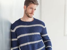 DIY-Anleitung: Gestreiften Herren-Pullover stricken via DaWanda.com