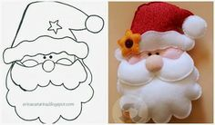 Manualidades diy en fieltro moldes e ideas Christmas Projects, Felt Crafts, Holiday Crafts, Felt Christmas Decorations, Felt Christmas Ornaments, All Things Christmas, Christmas Time, Father Christmas, 242