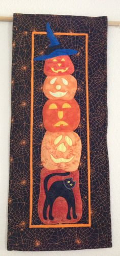 Stack of pumpkins made by Janet Beyea