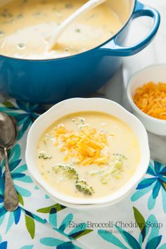 Easy Broccoli Cheddar Cheese Soup from thelittlekitchen.net
